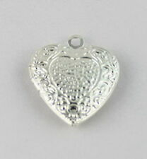 10PCS Pattern Heart SP Locket Pendants 20mm #20410