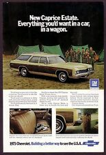 1973 Vintage Chevy Chevrolet Caprice Estate Station Wagon Car Photo Print Ad