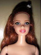 Slender Redheaded Barbie - Auburn Cheerleader, nude, fair complexion, green eyes
