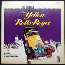Rare! Riz Ortolani Anthony Asquith's THE YELLOW ROLLS-ROYCE soundtrack LP Delon