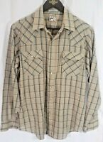 Vintage Levis Mens Pearl Snap Western Style Shirt Size Large