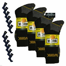 SockStack Ultimate Work Boot Socks Size 6-11 - Black