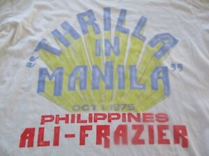 New XL ALI VS FRAZIER Thrilla in Manila RO T-Shirt Rare
