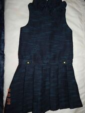 EUC Janie and Jack Girls size 6 WOODLAND WEEKEND Boucle Navy Blue TWEED