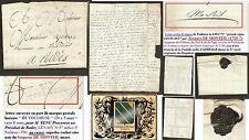 """Lettre 1775 marque à sec port dû """" DE TOULOUSE """" (20x5 mm) LAC, POTHION indice 9"""
