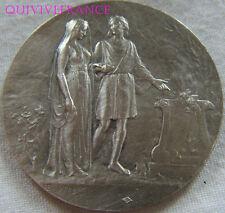 MED5873 - MEDAILLE JETON DE MARIAGE 1910 par DROPSY - en argent