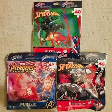 Marvel Advengers And Disney Spider-Man Kids Puzzle On The Go! Resealable bags