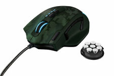Trust GXT 155C Elite Mouse Gaming Pesi Integrati e Memoria Interna Verde Camo