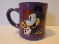 Walt Disney World Purple Ceramic Coffee Cup Mug Micky Mouse With Flower Disney