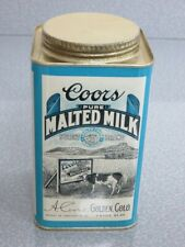 Coors Malted Milk - Gorgeous 1 Lb Tin - c1915