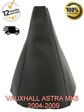 VAUXHALL ASTRA H MK5 2004-2009 LEATHER GEAR STICK GAITER COVER - BLACK STITCH