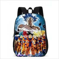 Dragon Ball Super Saiyan All Son Goku Printing Backpack Student School Book Bag