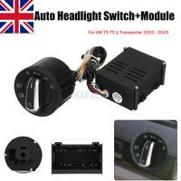 Auto Headlight Fog Light Module Switch Upgrade Fit VW T5 T5.1 Transporter
