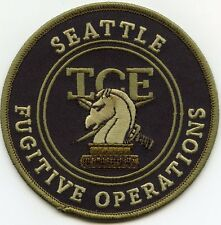 SEATTLE WASHINGTON WA ICE FUGITIVE OPERATIONS subdued green POLICE PATCH