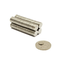60x Neo Cylinder Strong 7 mm x 2 mm Thin Neodymium Disc Magnets