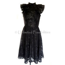 H&M Jacquard Weave Dress Black Glitter Size 8 With Tags