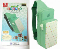 Green Pouch Animal Crossing Nylon Shoulder Bag For Nintendo Switch / Lite New