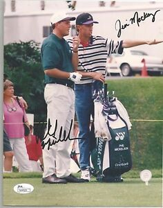 Phil Mickleson & Jim MacKay Autographed 8 By 10 Photo James Spence Authenticated