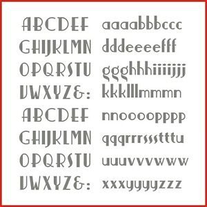 Sticky Back Vinyl Letters Art Deco Alphabet 15/20/25/30/40mm signs shops banners