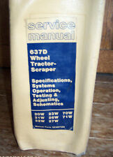 Cat CATERPILLAR 637D Wheel Tractor-Scraper SERVICE Shop Repair MANUAL   Lot #607