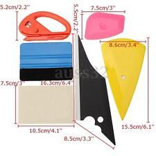 6PCS Car Film Wrap Application Vinyl Tool Kit Felt Squeegee Cutter Tool Set