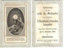 HB Spitzenbild Andacht Heiligenbild Wallfahrt Meßopfer Schwindkirchen 1894