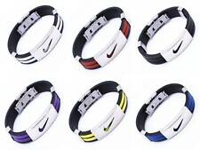 ONE Stainless Steel Nike Sports Silicone Wristband Bracelet