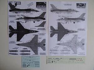 Astra decals 1/72 F-16A/B/C/D stencils (2)