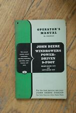 John Deere - Windrowers Power Driven 9 Foot R/L hand cut Operator's Manual