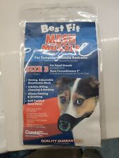 "Coastal Pet Best Fit Mesh Dog Muzzle Size 3"" Small Breed *New*"