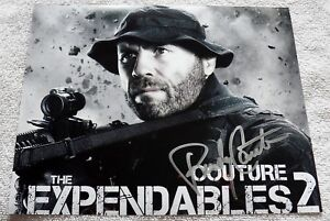 """UFC Legend """"The Natural"""" Randy Couture The Expendables 2 Signed 8x10 Photo Auto"""