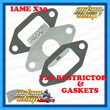 GO KART IAME X30 RESTRICTOR PLATE & GASKETS FOR TaG ENGINE NEW