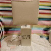 """Rae Dunn """" Home """" Lamp. Ivory With LL Black Text. HTF . Magenta"""