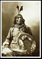 ⫸ 865 Postcard FOOL BULL Brule Sioux Native American 1900 Anderson Photo - NEW