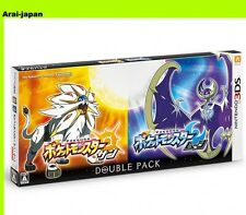3DS Pokemon Double Pack Sun and Moon set Game serial code Japan Nintendo