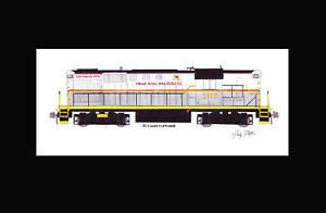 "Falls Road Railroad RS11 #1802 11""x17"" Matted Print Andy Fletcher signed"