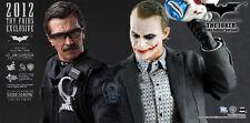 Hot Toys Batman Dark Knight 1/6 MMS182 Lt Jim Gordon & MMS79 Joker Bank Robber