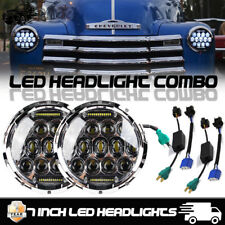 "7"" Inch LED Projector Chrome Headlights for Chevy Truck 1947-1957 and 1962-1972"