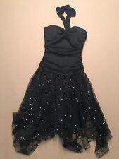 A.Byer Black Cocktail Halter Dress, Medium