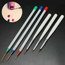 6Pcs/Pack  Tool 3 Fine Drawing 3 Striping Liner Nail Art Pens Brushes Set