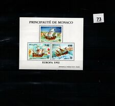 // MONACO - MNH - EUROPA CEPT 1992 - SHIPS - COLUMBUS
