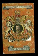 Royalty GEORGE V Coronation Souvenir  Heraldic Pocket m/view  PPC