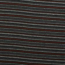 Charcoal and Orange Chenille Stripe Curtain Cushion Seating Upholstery Fabric