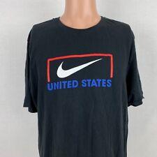 Nike Team United States Soccer Goal T-Shirt XL Black Swoosh USA Athletic Cut