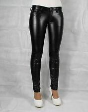 H83# Sexy Leggings Treggings Lack Leder Hüftleggings Hüftjeans Fashion Hose