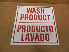 "NEW NO NAME ALUMINUM SIGN WASH PRODUCT PRODUCTO LAVADO 12""x 12"""