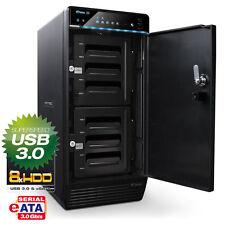 "FANTEC QB-X8US3-6G  - 8 Fach 3,5"" SATA Festplatten Gehäuse - USB3.0 & eSATA NEU"
