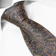 CRAVATE de Marque Française SOIE Cachemire Marron - Tie Paisley Brown Cravatte
