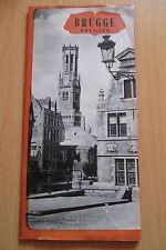 Reiseprospekt Belgien Brügge  ,8  Seiten um 1950