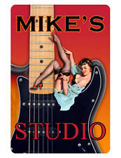 Personalized STUDIO Sign Printed with YOUR NAME.Custom Hi-Gloss Signs..strat